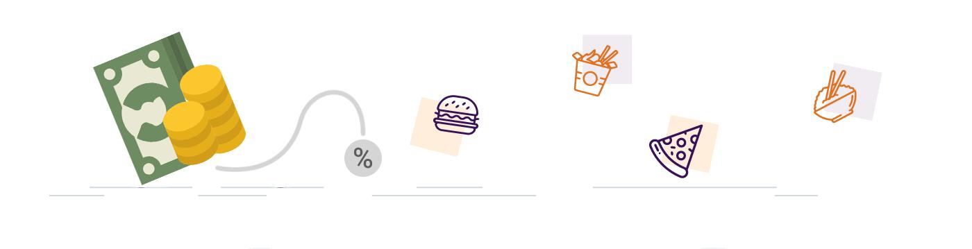 درصد کمیسیون در اپلیکیشن آنلاین سفارش غذا