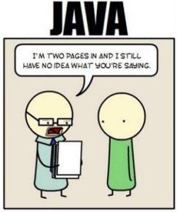 جاوا زبان پیچیده ای است.