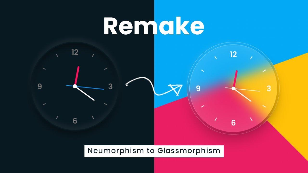 neumorphism vs. glassmorphism